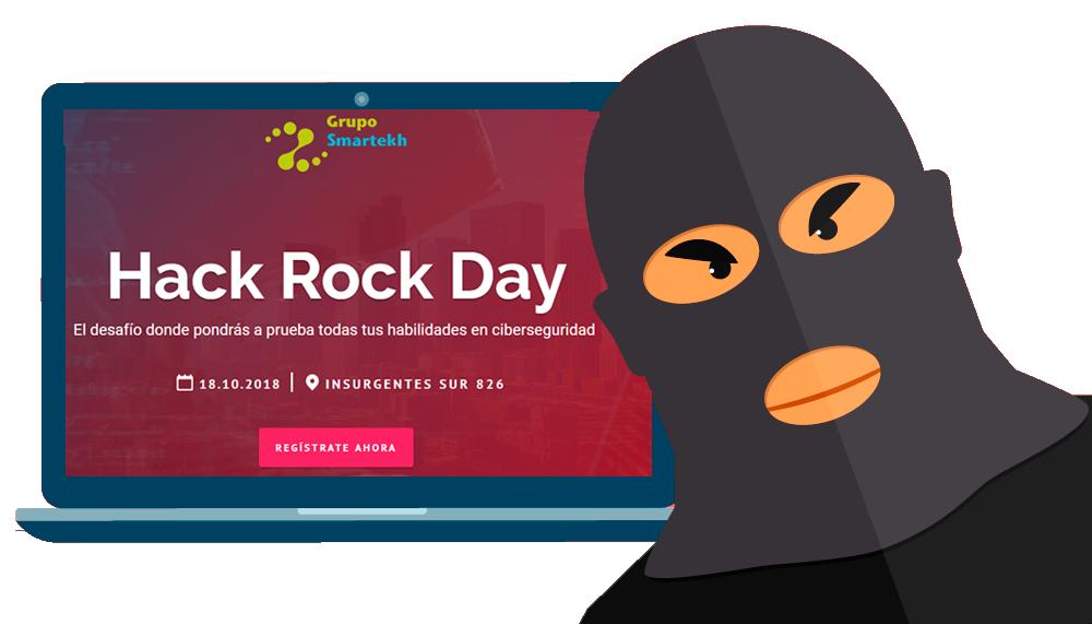 Unete al Hack Rock Day el jueves 18 de Octubre 2018